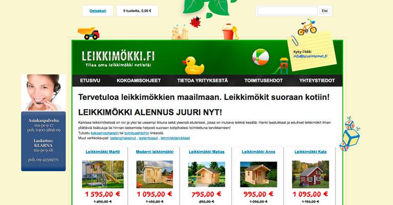 Leikkimökki.fi etusivu