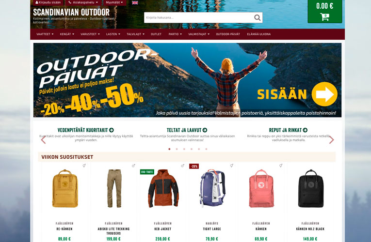 Scandinavian Outdoor kauppa
