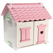 STOY Small Village Dollhouse Pink