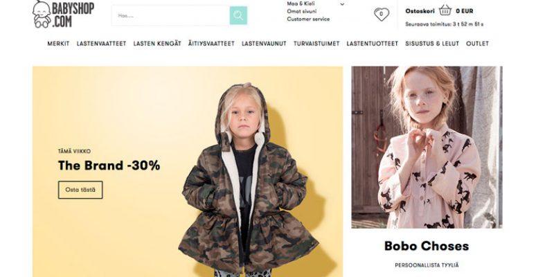 Babyshop.com – Lastenvaatteita ja tarvikkeita jopa -50%