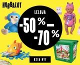 Leluale – Nyt käynnissä Hobbyhallin HOBBALOT ! Lelut jopa -70%