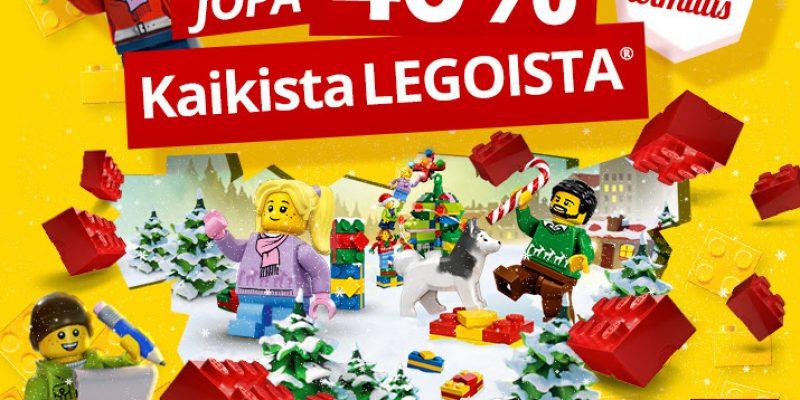 Legoja pukinkonttiin? Kaikki Legot alennuksessa Lekmerillä, jopa -40% !