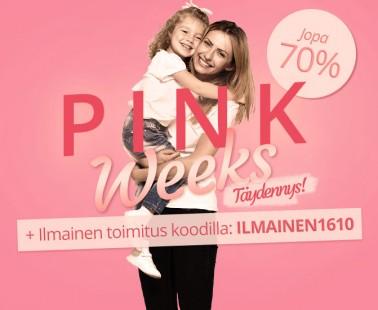 Pinkweeks viimeinen viikko – suosikkituotteet jopa -70% nyt Lekmerillä!